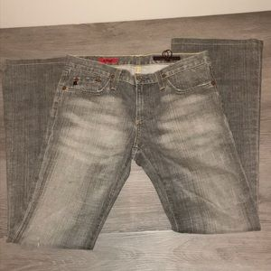 AG the Angel gray wash straight leg jean